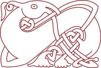DOE logo red dragon